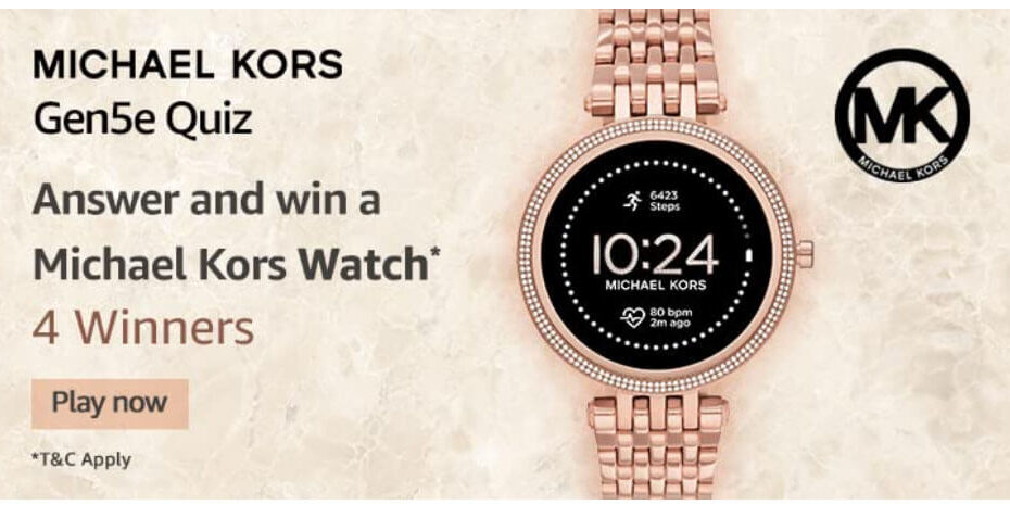 Amazon Michael Kors Gen5e Quiz Answers