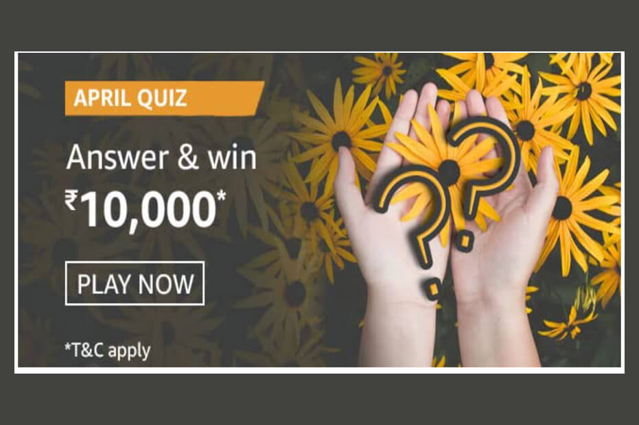 amazon april quiz answers
