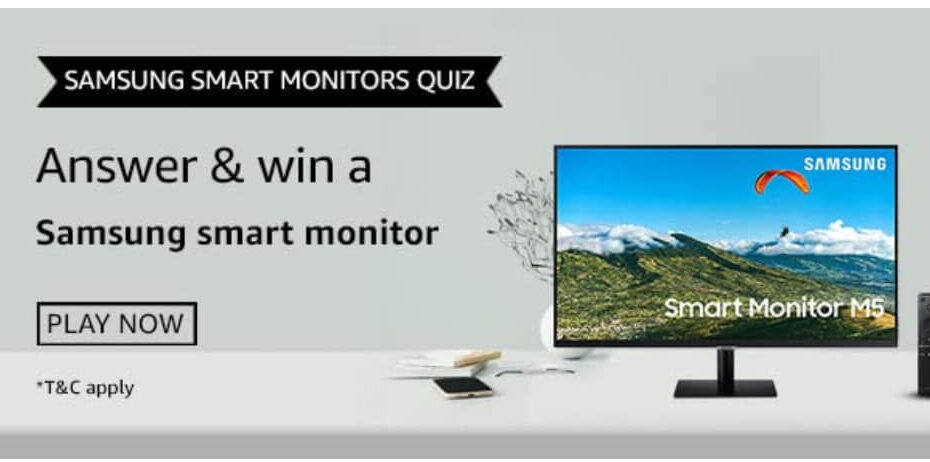 Amazon Samsung Smart Monitors Quiz Answers