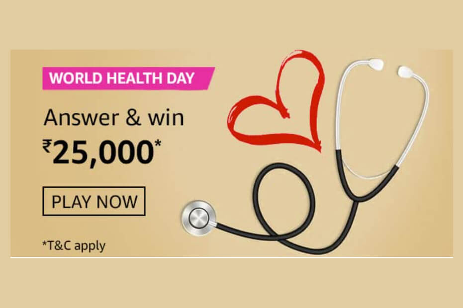 Amazon World Health Day Quiz Answers